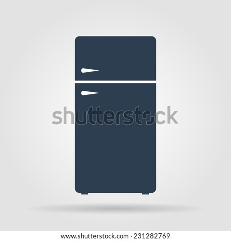 Icon of refrigerator. Flat vector illustrator  Eps-10 - stock vector
