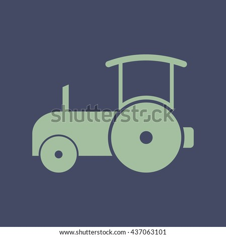 Icon of Road Roller. Eps-10. - stock vector
