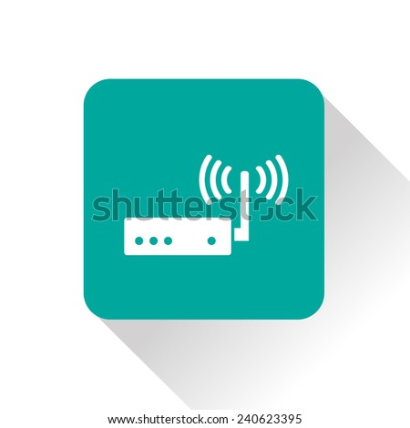 icon of router - stock vector