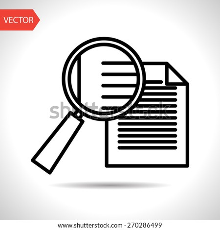 icon of search document - stock vector