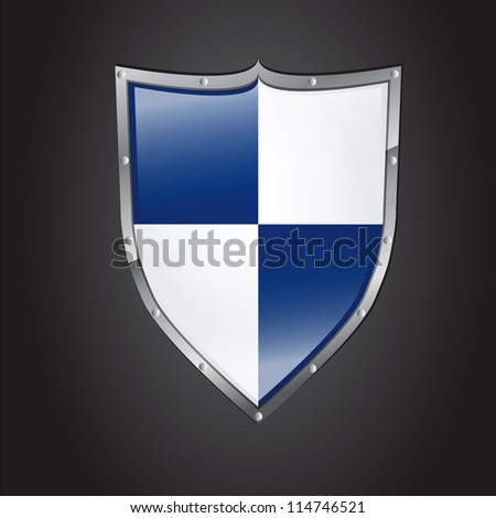 Icon of shield with glossy affect - stock vector