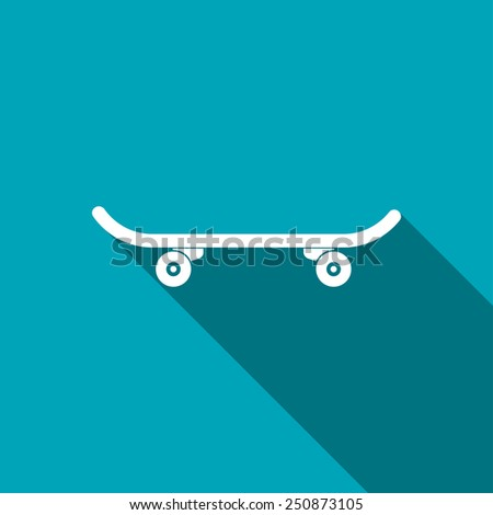 icon of skateboard - stock vector