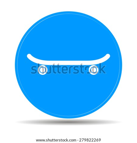 icon of skateboard. Vector Illustration EPS 10 - stock vector