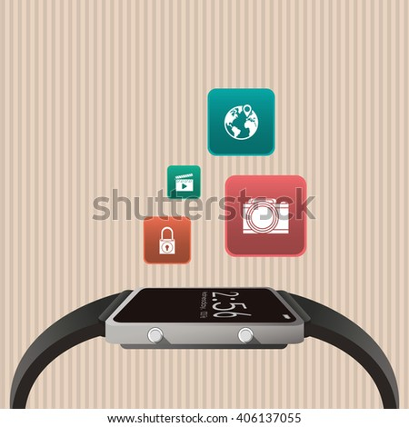 Icon of Smart watch design, vector illustration