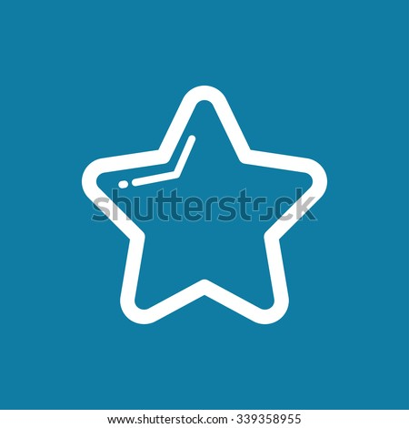 icon of Star eps10 - stock vector