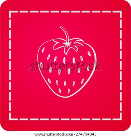 icon of strawberry - stock vector