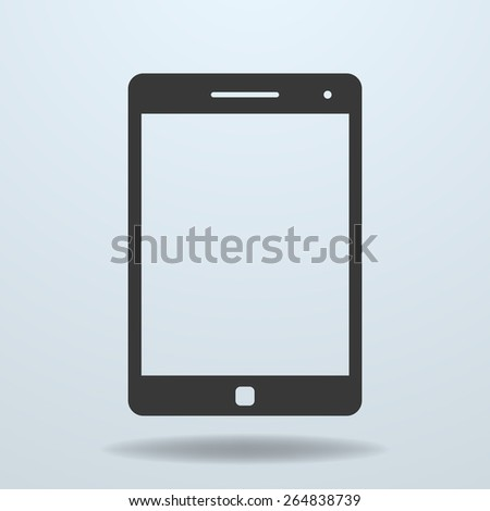 Icon of Tablet PC, tablet computer. Tablet symbol, Tablet eps10, Tablet sign, vector Tablet, Tablet picture, Tablet illustration, isolated Tablet, image of Tablet, silhouette of Tablet, Tablet design - stock vector