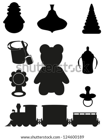 download this Cute Black Teddy Bear Girl Icon Toys Collection Vector picture