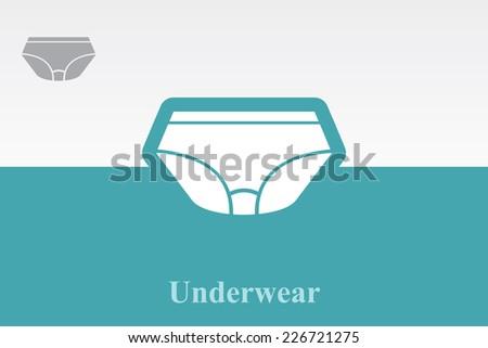 Icon of underwear . Eps.-10. - stock vector