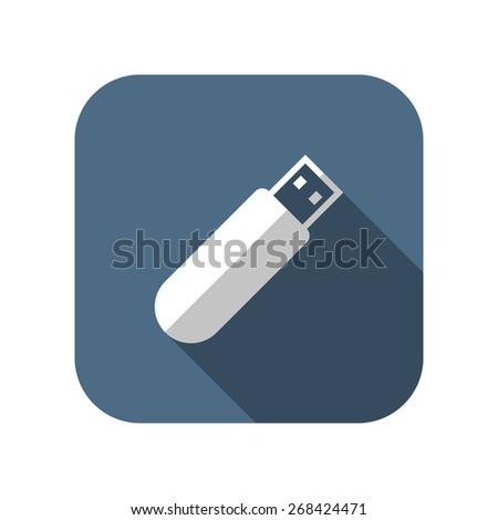 icon of usb stick - stock vector
