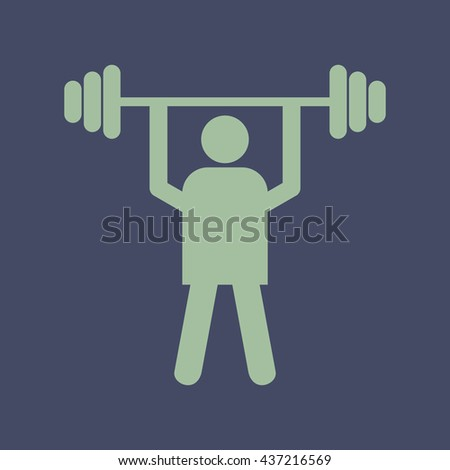Icon of Weight Lifter. Eps-10. - stock vector