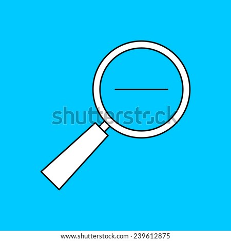 icon of zoom loupe - stock vector