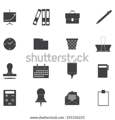 icon office set - stock vector