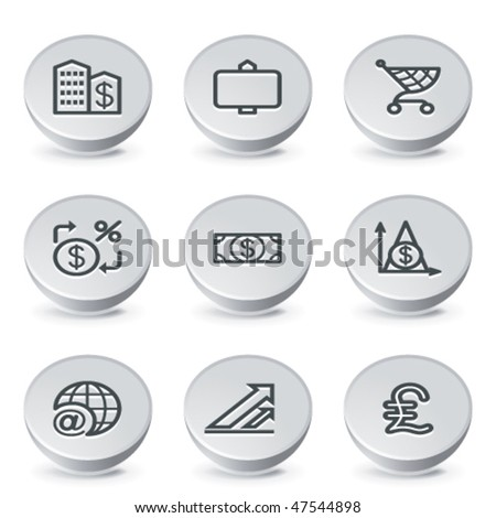 Icon on gray button 23 - stock vector