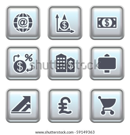 Icon on metal button 23 - stock vector