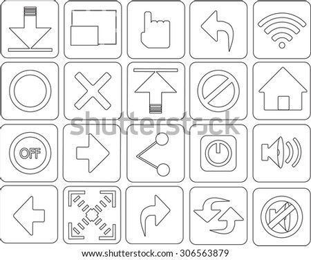 Icon or button on a web site. - stock vector