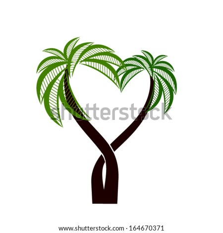 icon palms. Vector - stock vector