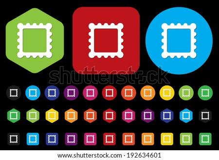 icon photo - stock vector