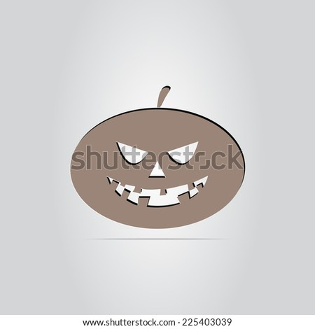 Icon pumpkin. Happy Halloween holiday. Made in vector