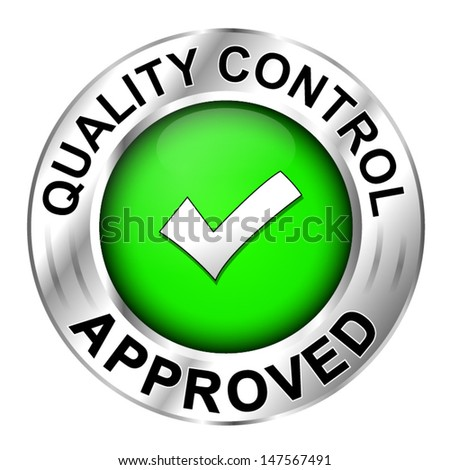 Icon quality control approved - stock vector