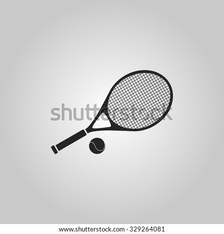 Icon racket with the ball for tennis. - stock vector
