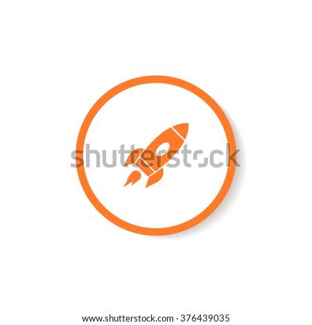 Icon rocket. - stock vector