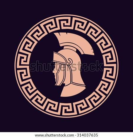 Icon Roman soldier - stock vector