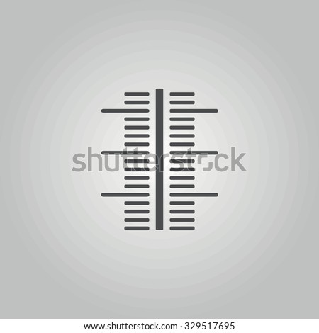 Icon scale thermometer. - stock vector
