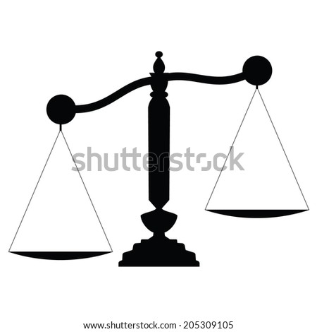 Icon scales. vector - stock vector