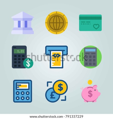 Icon set about Currency. with exchange, credit card and coin
