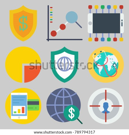 Icon Set About Marketing Keywords Internet Stock Vector Hd Royalty