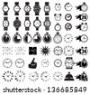 Icon set clocks, vector illustration - stock vector