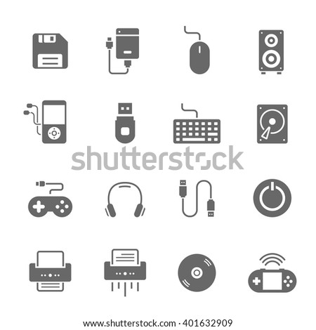 Icon set - devices accessory