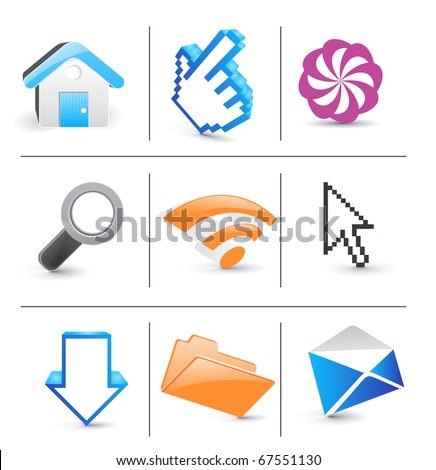 Icon Set for Web Applications - Vector design - stock vector