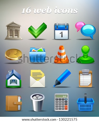 Icon set for web, business or print. - stock vector