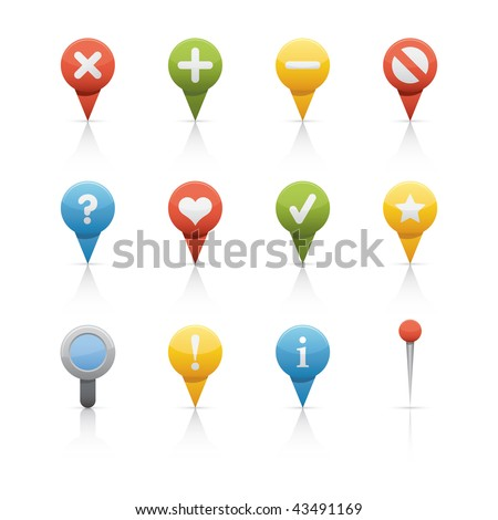Icon Set - GPS and Navigation. Vector Icon set - stock vector