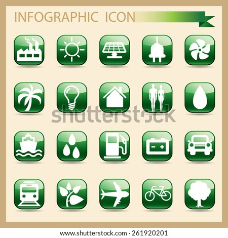 Icon Set - Illustration - stock vector