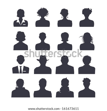 Icon set of people avatars - stock vector