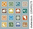 Icon set of weather, Illustration eps 10 - stock vector
