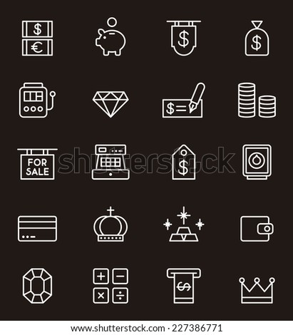 Icon set related to MONEY  - stock vector