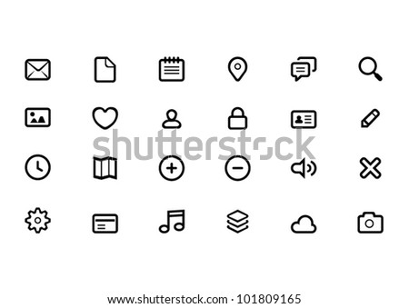 Icon sets - stock vector