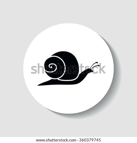 Icon snails. - stock vector