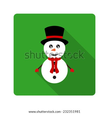 Icon Snowman for flat design