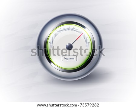 icon speedometer or clock. EPS10, transparency - stock vector