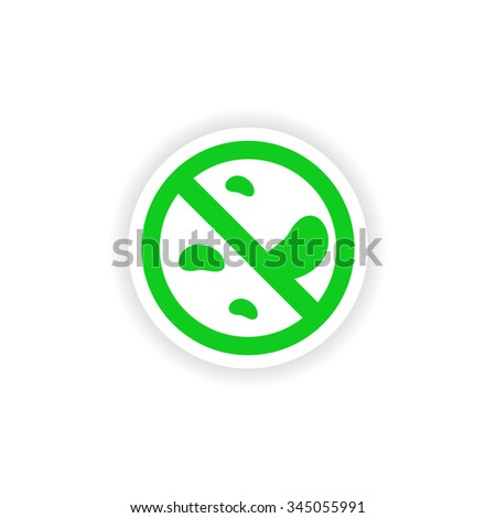 icon sticker realistic design on paper germs - stock vector