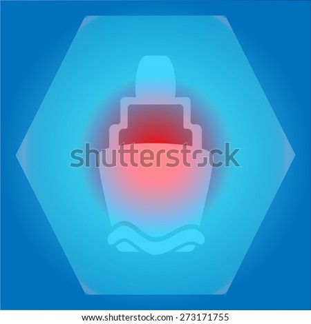 icon sticker realistic design on paper lighthouse  - stock vector