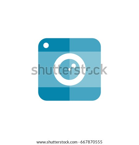 Icon symbol photo camera making pictures flat icon vector digital camera logo image snapshot icon flat banner icon site portfolio instagram logo