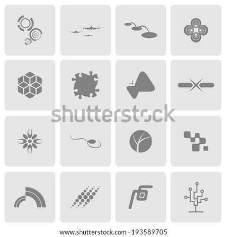 Icon symbol tech - stock vector