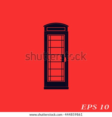 Icon telephone box.