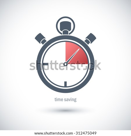 Icon to save time. - stock vector